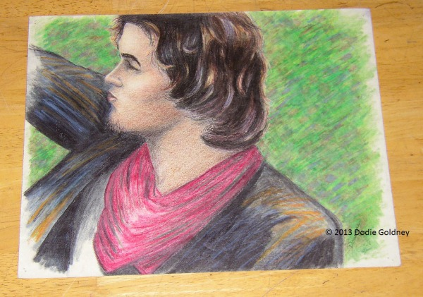 coloured pencil