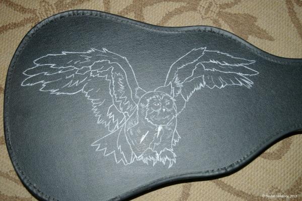 owl outline close