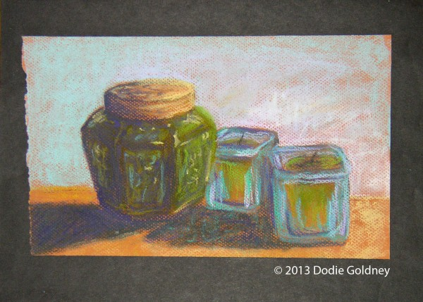 ginger jar and candles