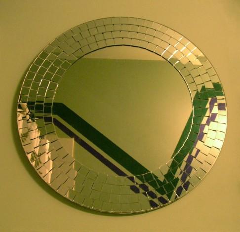 ikea mirror and racing stripe